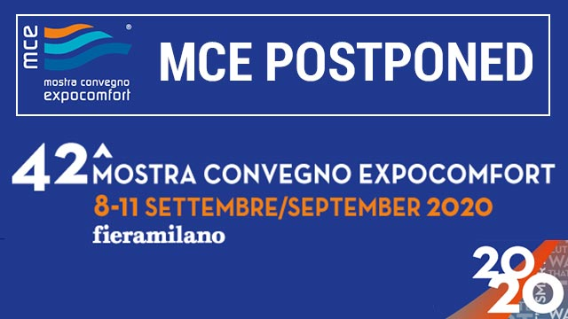 MCE Postponed to September 8 11 2020 in Fiera Milano Mostra Convegno Expocomfort