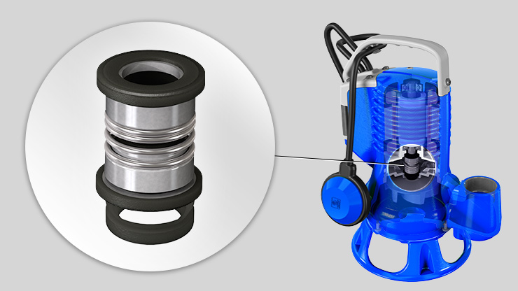 Zenit blue Series electric submersible pump V ring mechanical seals