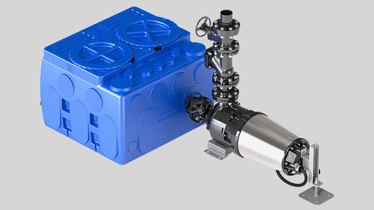 Zenit blueBOX lifting station external pump