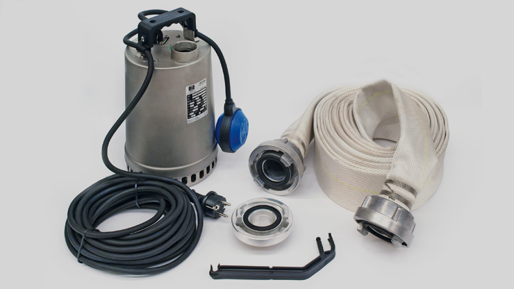 Zenit flood pump kit content