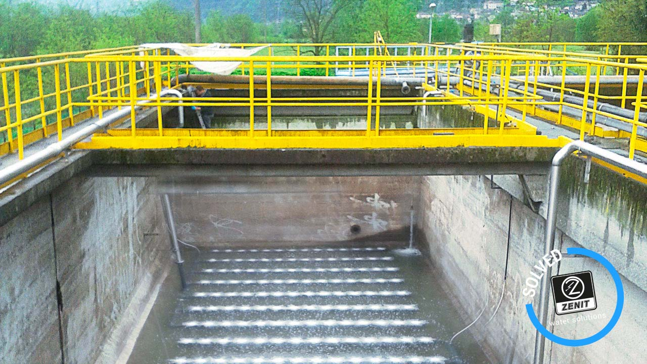Zenit italy wastewater treatment oxygenation tank villadossola