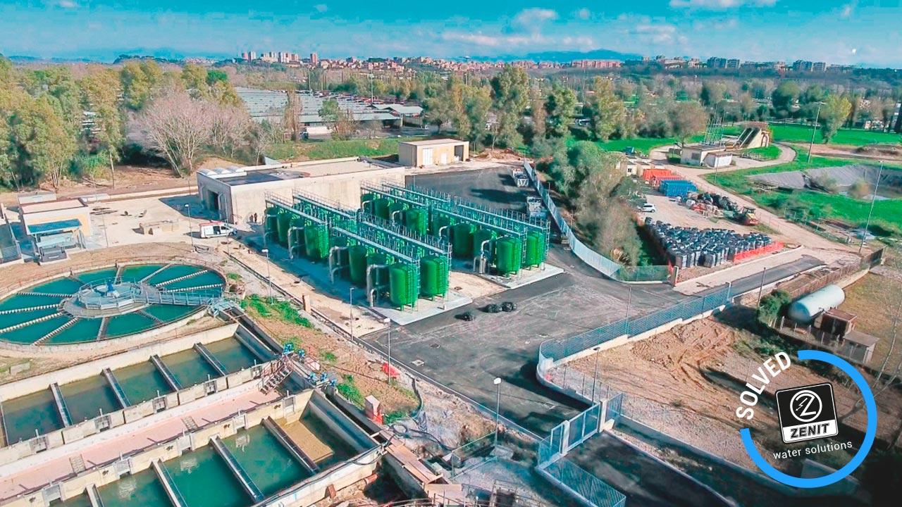 zenit italy references wastewater lifting municipal plant acea